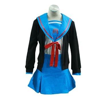 Haruhi Suzumiya Cosplay Costume - Nagato Yuki 1st XX-Large
