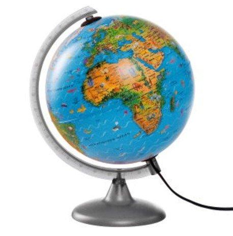 Globus 2 in 1 Kinderglobus Nachttischlampe Leuchtglobus 25 cm