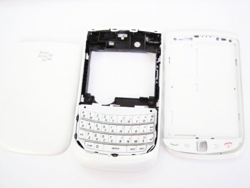 White Housing Cover Door Case Frame Fascia Plate for Blackberry Torch 9800 ~ Mobile Phone Repair Parts Replacement