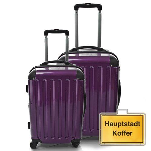 HAUPTSTADTKOFFER 2er Set Aubergine (87Liter/130Liter)