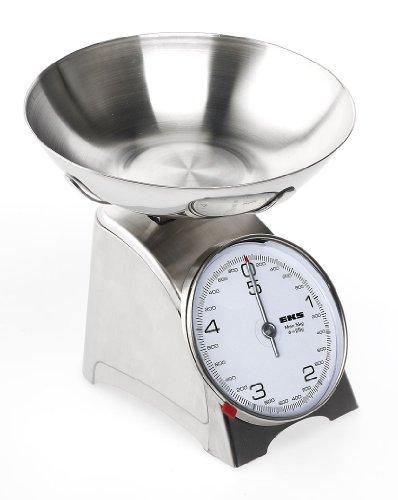 EKS 8115 ST/ST INOXX Balance de Cuisine Mécanique en Inox 5 kg