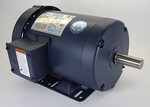1.5 Hp 1725 Rpm 145T Frame 208-230/460 Volts Tefc Leeson Electric Motor # 171646