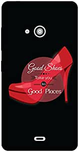 The Racoon Lean Good shoes hard plastic printed back case / cover for Microsoft Lumia 540