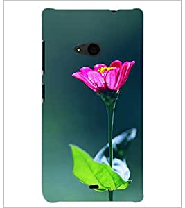 PrintDhaba Flowers D-2443 Back Case Cover for MICROSOFT LUMIA 535 (Multi-Coloured)