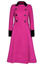 M&S Woman Double Breasted Contrast Coat [T91-1713-S]