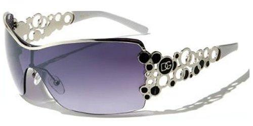 Dg Eyewear Womens Designer Tennis Sunglasses Tenis Gafas De Sol (White)