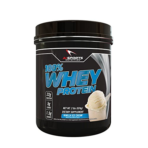 Vanilla Ice Cream 100% Whey Protein Powder 2 Lbs (28 Servings) by AI Sports Nutrition (Rice Poder compare prices)