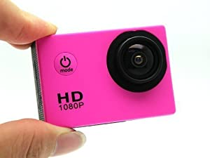 12MP Full HD 1080P Bicycle Helmet Sports DV Action Waterproof Car Camera SJ4000(Pink)
