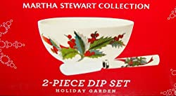 Martha Stewart Collection Dinnerware, Holiday Garden 2 Piece Dip Set