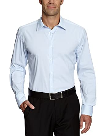 SELECTED HOMME Herren Freizeithemd Slim Fit 16016343 One Peter Canbera shirt ls, Gr. 48 (S), Blau (Light Blue)