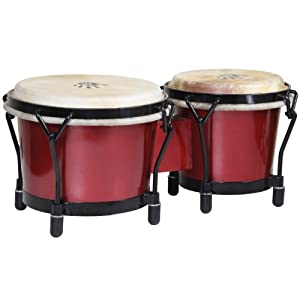 X8 Drums X8-BNG-JRNY-RD Journey Series Bongo Drums, Red Sparkle