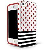 AKNA Glamour-Serie, flexible TPU, weiche rückwärtige Schutzhülle fürs iPhone 5 5S [Popular Stripe Polka Dots]