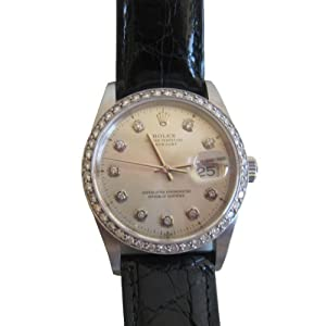 Original Rolex Oyster Perpetual Genuine Diamond Watch 1.42 Carat Diamonds