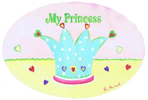 The Kids Room by Stupell My Princess with Blue Crown Oval Wall Plaque