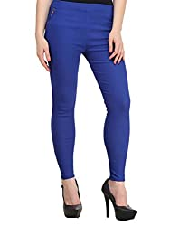 Atharv Collections Women's Jeggings (Blue_32_Blue_32)