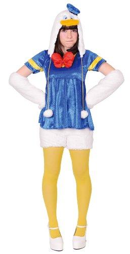 Disney公式ライセンス商品 女性用モコモコドナルドダック Stdサイズ 95270 (対象身長 155-165cm バスト 85-95cm ウエスト 64-76cm)