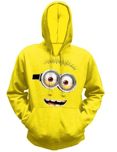 Despicable-Me-2-Mens-Minion-Pull-over-Hoodie-Sweatshirt-Yellow