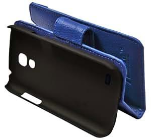 ncase PFBC-8478BL Book Type Mobile Cover for SAMSUNG i9192 Galaxy S4 Mini (BLUE)