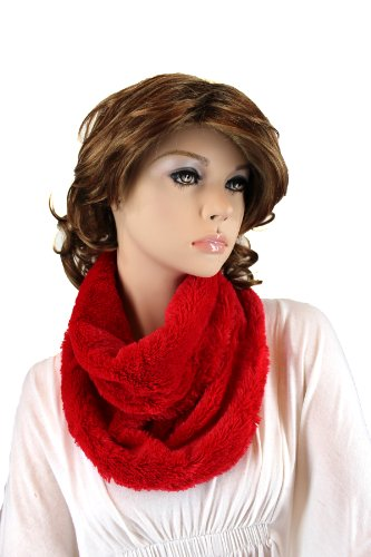 Fashion Dimensions Cruella Infinity Neck Scarf In Red