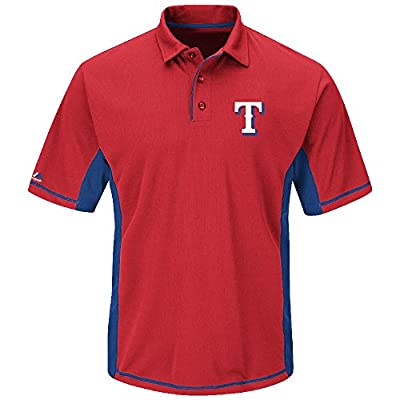 Majestic Texas Rangers Red Top Of The Inning Synthetic Polo Shirt