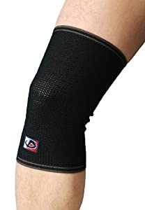 Phiten Aqua-Titanium Knee Support, Black, S by Phiten