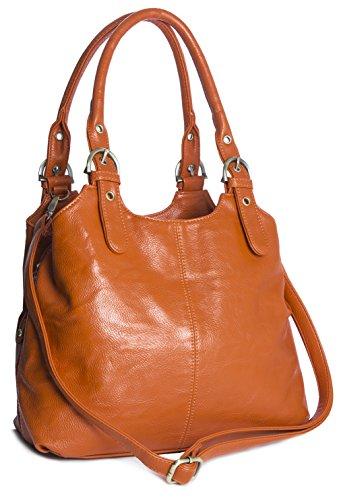 Big Handbag Shop, Borsa a mano donna Arancione arancione