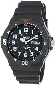 (黑五)$10卡西欧 Casio Men's MRW200H-1BV Black Resin Dive 男士运动潜水表