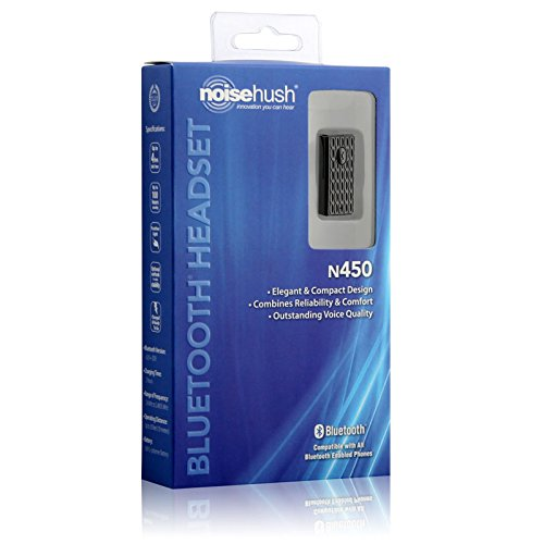 Noisehush Professional Bluetooth Headset - Iphone, Blackberry, Htc, Samsung, Lg, Motorola, And Nokia - Black