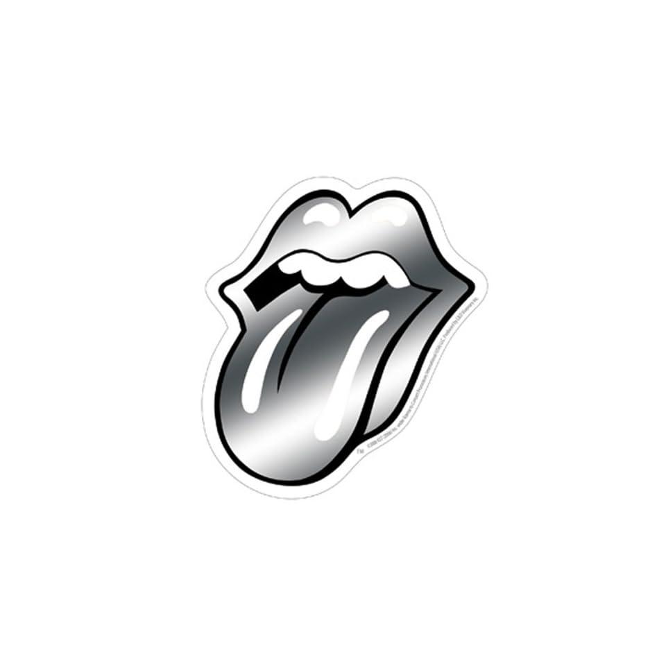 Rolling Stones   Chrome Tongue Sticker