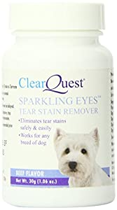 ClearQuest Sparkling Eyes Dog Tear Stain Remover, 30-Grams