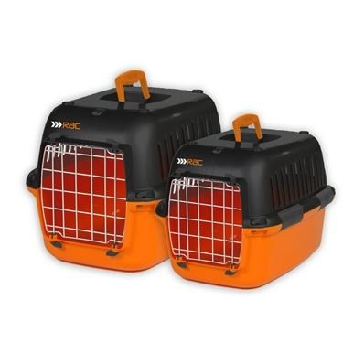 RAC Advanced Plastic Portable Cat Puppy Dog Pet Transport Carrier Kennel Crate Large