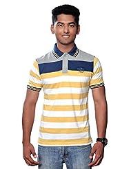Vibgyor Striped Men's Polo T-Shirt