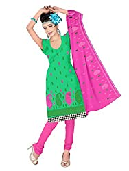 Shree Vardhman Green Cotton Straight unstitched salwar suit (SEJAL11)
