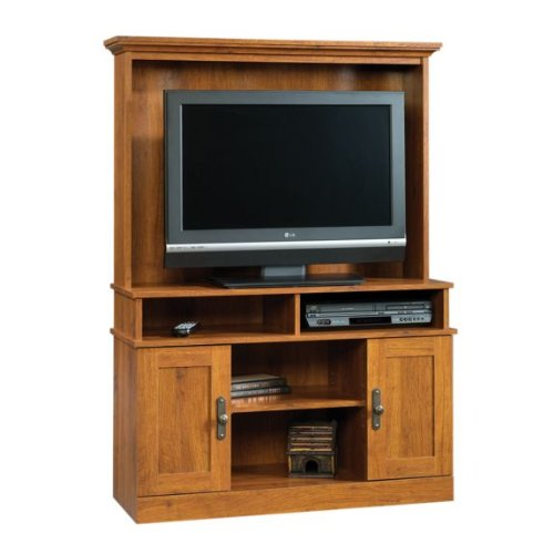 Sauder Harvest Mill Entertainment Center Abbey Oak front-1071167