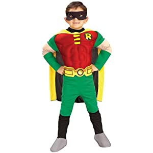 Deluxe Muscle Chest Robin Costume, Red