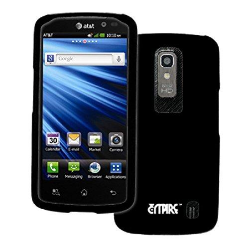 EMPIRE LG Nitro HD Rubberized Hard Case Cover (Black) [EMPIRE Packaging]