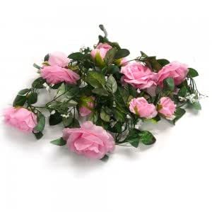 Pink Silk Rose Garlands Wedding Flowers Electronics