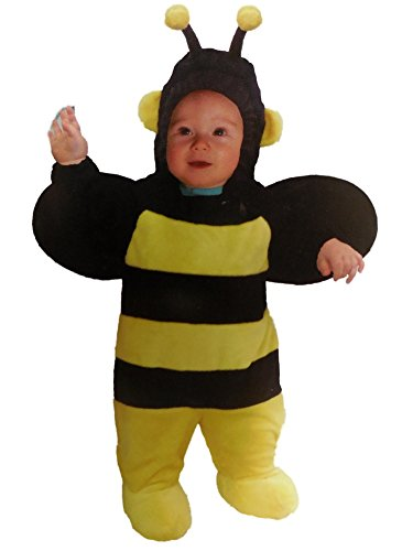 Totally Ghoul Infant Boys & Girls Plush Yellow & Black Bumblebee Costume Bee (Infant Bumble Bee Costume)