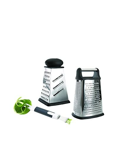 BergHOFF Studio 2-Piece Grater Set with Zester, Silver