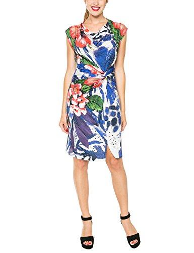Desigual Damen A-Linie Kleid ELECTRA, Knielang, Gr. 38 (Herstellergröße: L), Blau (NAVY 5000) thumbnail