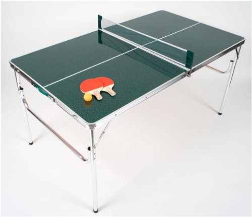 Review Of The Original MASTER PONG Mini Portable Lightweight Aluminum Folding Ping Pong Table Set in...