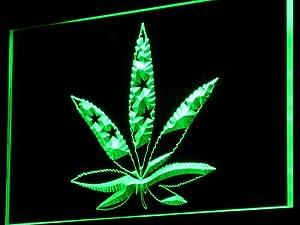 Enseigne Lumineuse i768-g Marijuana Hemp Leaf US Flag Neon Light Sign