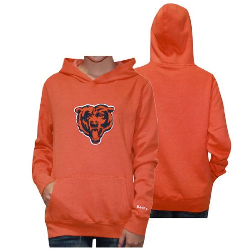 Womens NFL Chicago Bears Athletic Pullover Hoodie / Sweatshirt Jacket with Embroidered Logo by Pink Victoria's Secret Medium Orange at Amazon.com