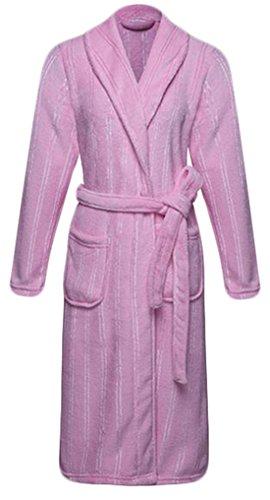 eku-mens-womens-flannel-bathrobe-pajama-shawl-collar-long-robe-m-1