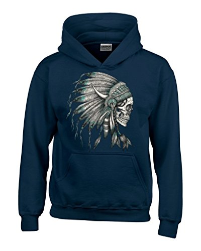 New Skull Headdress Hoodies Native American Sweatshirts X-Large Navy#16919 (Indian Chief Headdress For Sale)