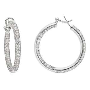 "Gumuchian Large ""Lola"" Pavé Diamond Hoop Earrings"