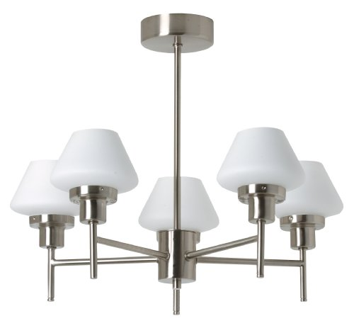 TP24 Oslo 5 Arm Pendant Fitting in Satin Silver Finish