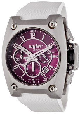 Men's Code R Automatic Chronograph Purple Dial White Rubber