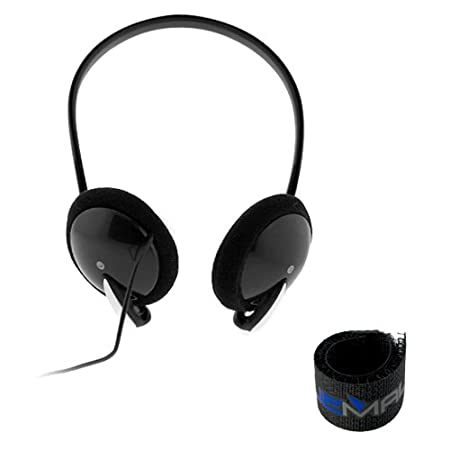GTMax Black Remote Control Headset with Microphone for Sony PS3 Playstation 3 + Black Cable Tie
