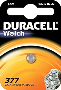 Duracell 377 SR626SW SB-AW AG4 1.55v Silver Oxide Watch Battery